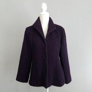 Eileen Fisher cost purple wool 2x
